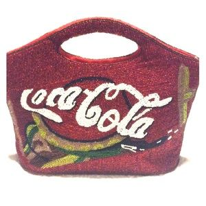 Vintage Coca Cola Red Sequin Satchel